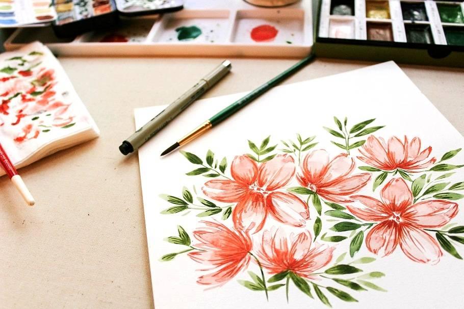 Jak Malovat Akvarelovymi Barvami Malirske Platno Cz