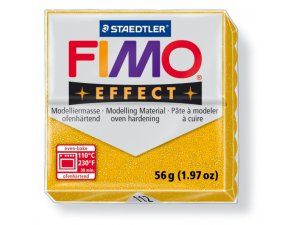 Modelovací hmota FIMO Effect termotvrdnúca - 56 g - Třpytivá Zlatá kreatívne potreby kreatívne potreby
