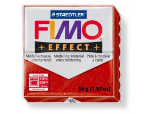 Modelovací hmota FIMO Effect termotvrdnúca - 56 g - Třpytivá Červená kreatívne potreby kreatívne potreby