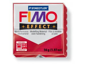 Modelovací hmota FIMO Effect termotvrdnúca - 56 g - Metalická Rubínová kreatívne potreby kreatívne potreby