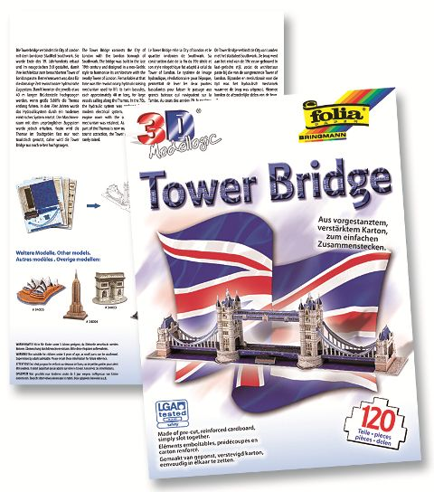 3D-Model Tower Bridge 120 dílů