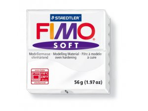 Modelovacia hmota FIMO Soft termotvrdnúca - 56 g – Bílá kreativní potřeby kreatívne potreby