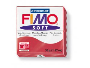 Modelovacia hmota FIMO Soft termotvrdnúca - 56 g – Tmavě červená kreatívne potreby kreatívne potreby