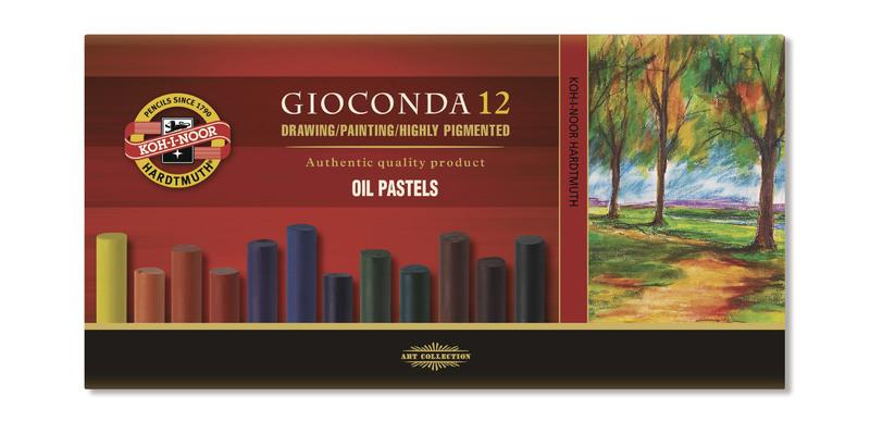 8352 Souprava uměleckých olejových pastelů 12ks GIOCONDA olejové křídy KOH-I-NOOR