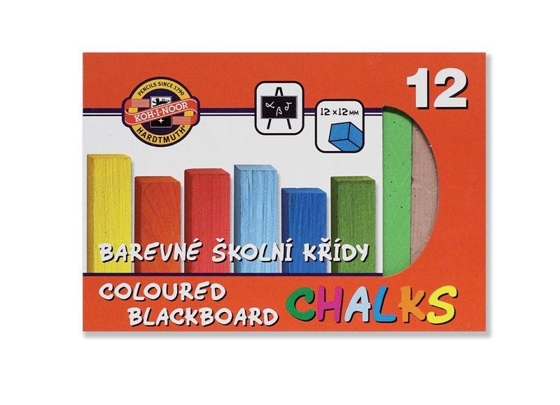 Barevné školní křídy / sada 12 ks školní potřeby KOH-I-NOOR