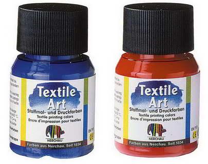 Barva na tmavý textil 59ml - Bílá barva na textil Nerchau