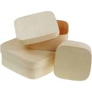 Čtvercový box z překližky / různé rozměry dřevěné polotovary na dekupáž