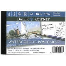 Image of Daler-Rowney blok akvarelových pohlednic