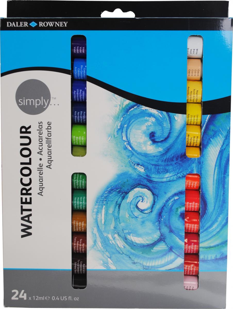 Daler- Rowney - akvarelová sada 24 x 12ml akvarelové barvy Daler - Rowney