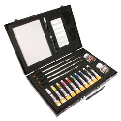Daler - Rowney, sada akrylových barev v černém kufru akrylové barvy Daler - Rowney