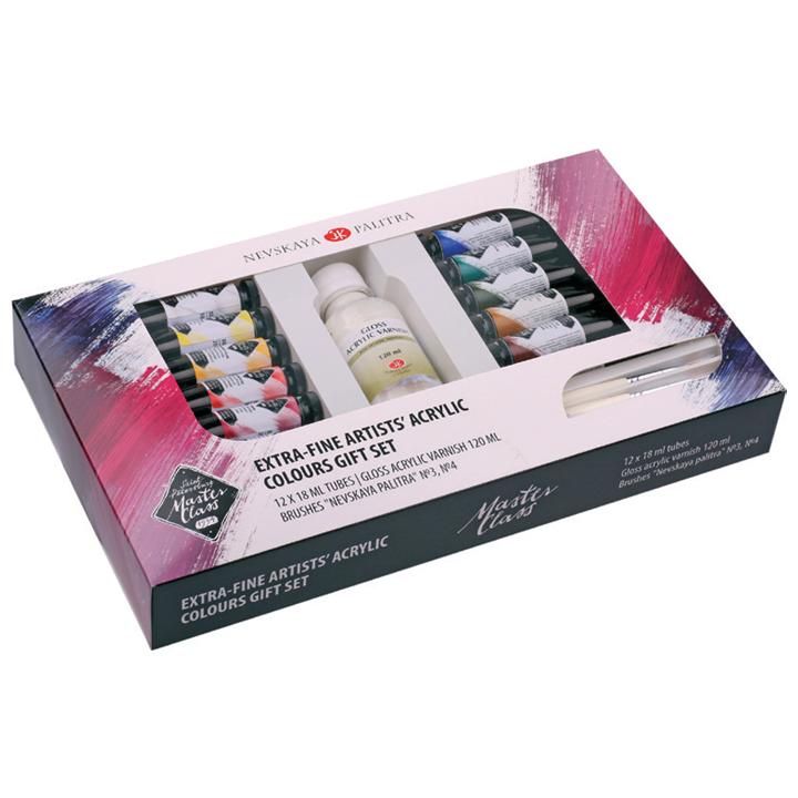 Image of Darčekový set akrylových farieb Artist´s Master Class / 15 dielny
