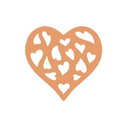 Ozdobná děrovačka azurová 5 cm - motiv Srdce příslušenství na scrapbooking