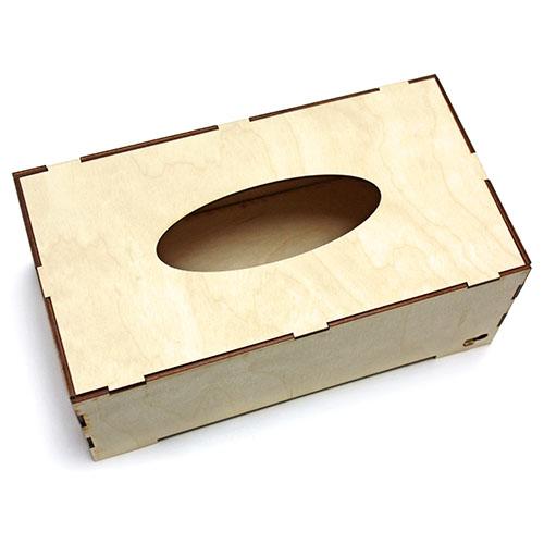 Dřevěná krabička - skládací pomůcky na dekupáž