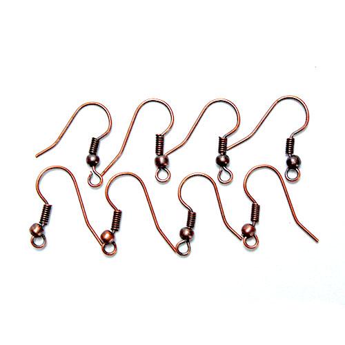 Kovové háčky pro náušnice - bronzová barva bižuterní komponenty