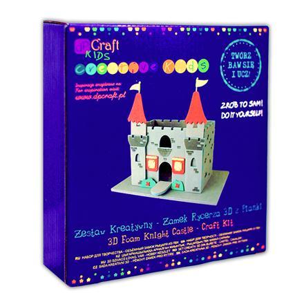 Kreativní sada - 3D pěnový rytířský zámek kreativní sady pro děti