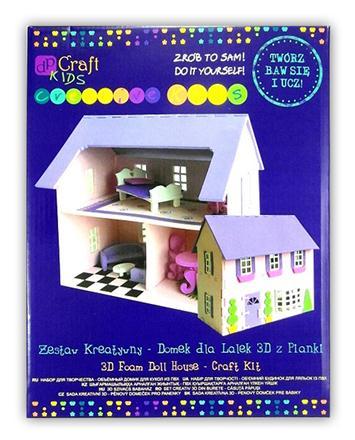 Kreativní sada - pěnový 3D domeček pro panenky kreativní sady pro děti