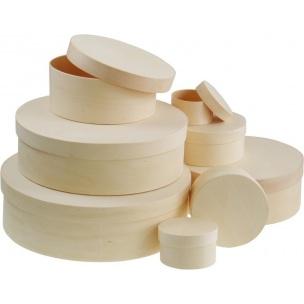 Kulatý box z překližky / různé rozměry dřevěné polotovary na dekupáž