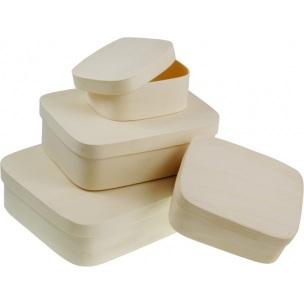Obdélníkový box z překližky 20 x 15,5 cm / V 5 cm dřevěné polotovary na dekupáž