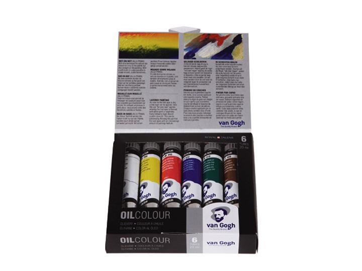 Olejové barvy Van Gogh Start SET 6x20 ml sada olejových barev Royal Talens