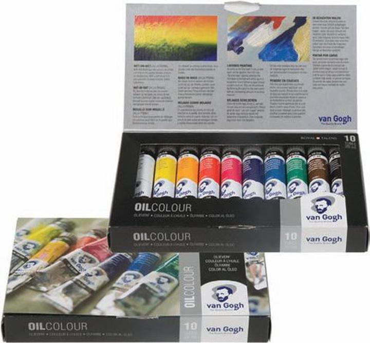 Olejové barvy Van Gogh START Set 10x20ml sada olejových barev Royal Talens