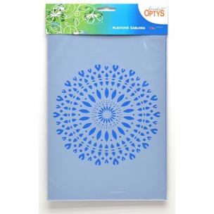 Plastová šablona - MANDALA 1, 20x30cm kreativní plastové šablony