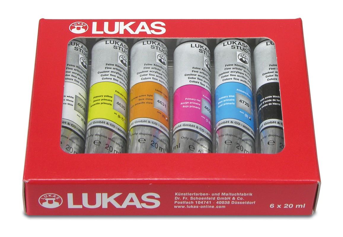 Sada akryl 6 x 20ml akrylové barvy Lukas Studio