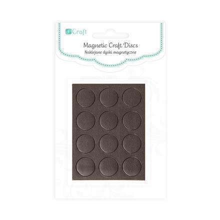 Samolepicí magnetické kroužky / 12 ks kreativní umělecké potřeby