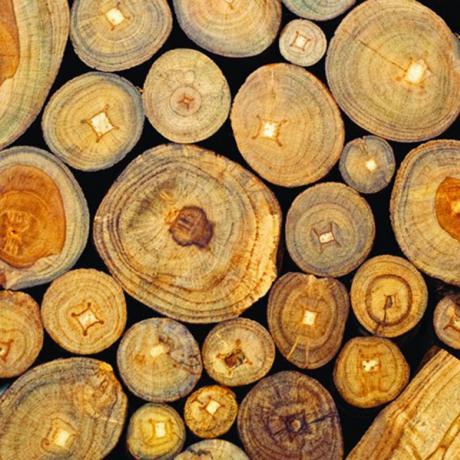 Ubrousky na dekupáž - Dřevěné trámy - 1ks vánoční ubrousky na dekupáž