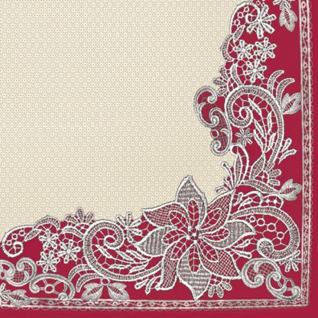 Ubrousky na dekupáž - Ornament - 1ks vánoční ubrousky na dekupáž