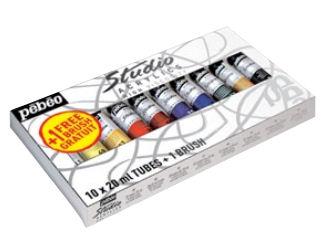 Akrylové barvy Studio Acrylic START malířský set PEBEO- 10 tub 20 ml