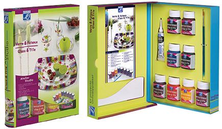 Barvy GLASS & TILE - OPAQUE Set 8x50ml krycí barvy na sklo, keramiku a porcelán