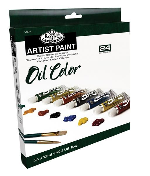 Olejové barvy ARTIST Paint 24x12ml malířská sada Malířský set Royal & Langnickel