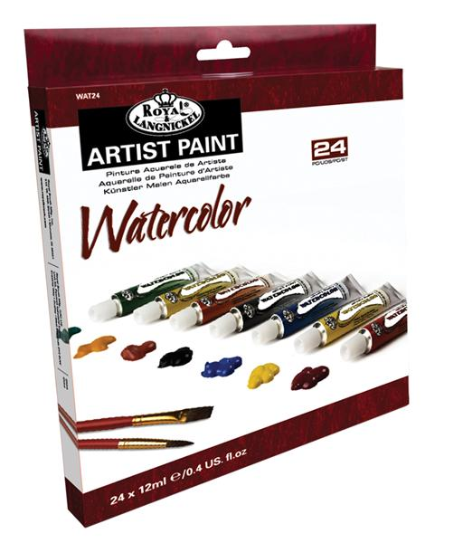Akvarelové barvy ARTIST Paint 24x12ml Malířský set Royal & Langnickel