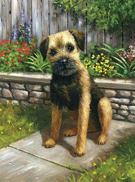 Kreativní set na malování - Pes v zahradě sada na malování podle čísel Royal & Langnickel