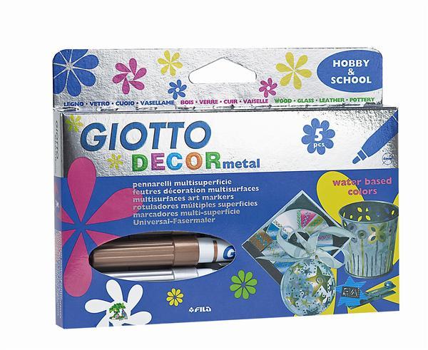 Fixy GIOTTO DECOR metal / 5 barev markery