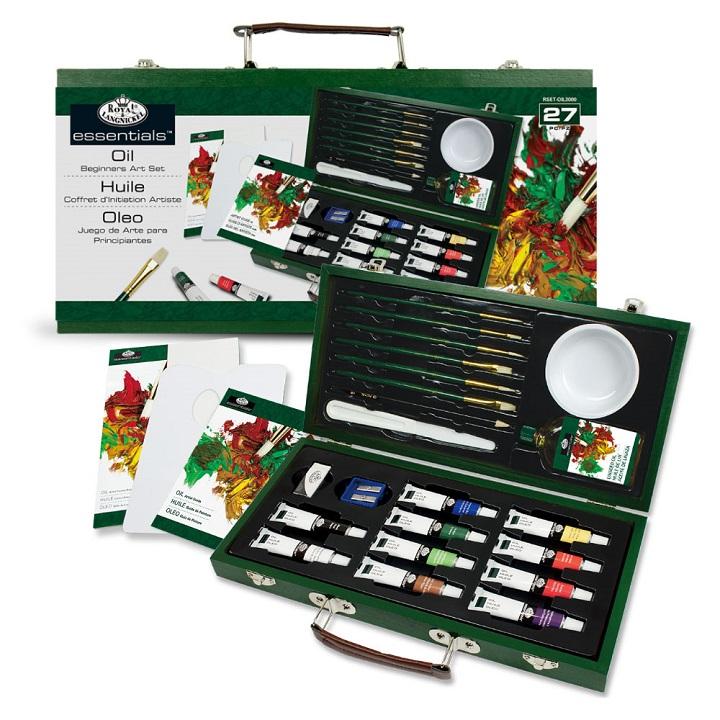 """Sada olejových barev v dřevěném pouzdře """"for Beginners"""" sada olejových barev Royal & Langnickel"""