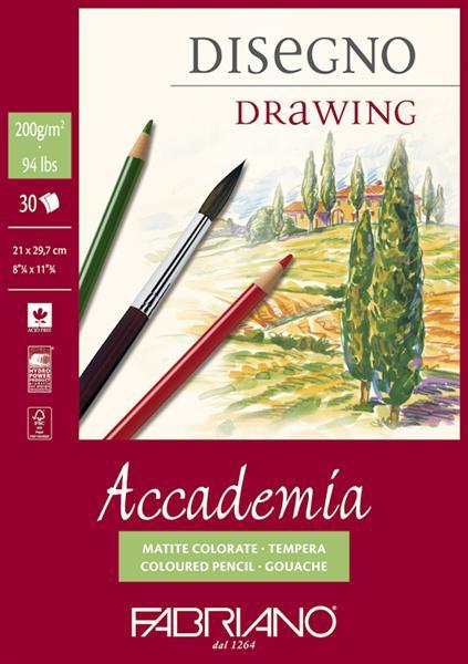 Blok papírů na kreslení a malování Accademia Fabriano blok papírů