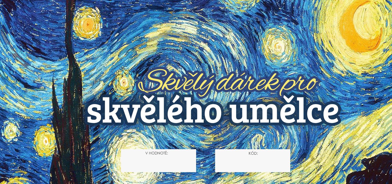 Image of Dárkový POUKAZ - Skvělý dárek pro skvělého umělce