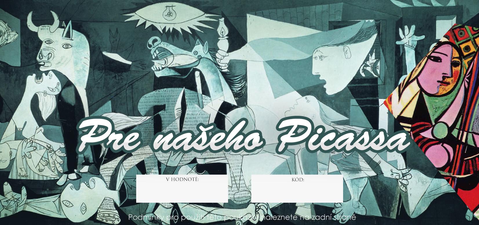 Dárkový POUKAZ - Pro našeho Picassa 500 Kč umělecké potřeby