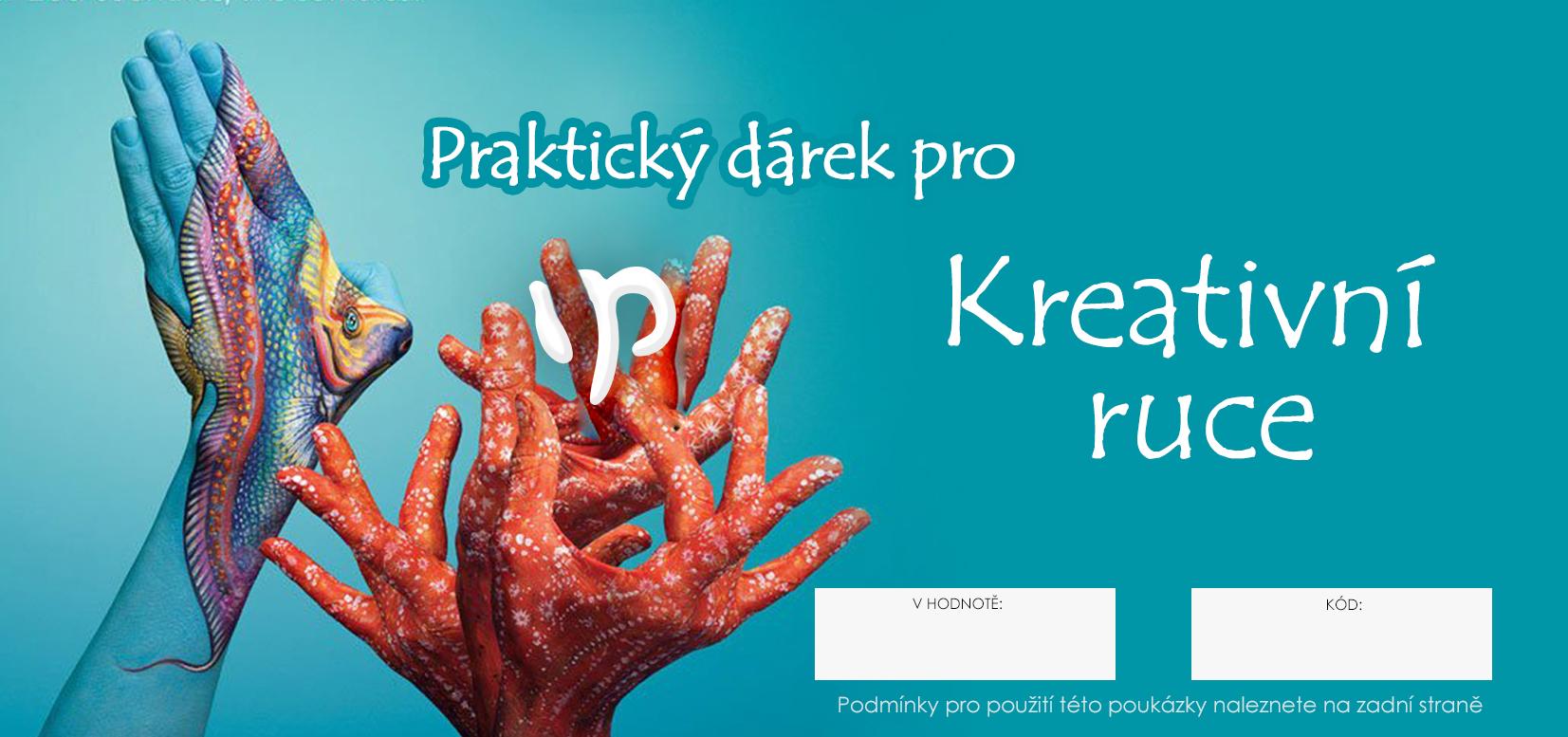 Image of Dárkový POUKAZ - Praktický dárek pro kreativní ruce