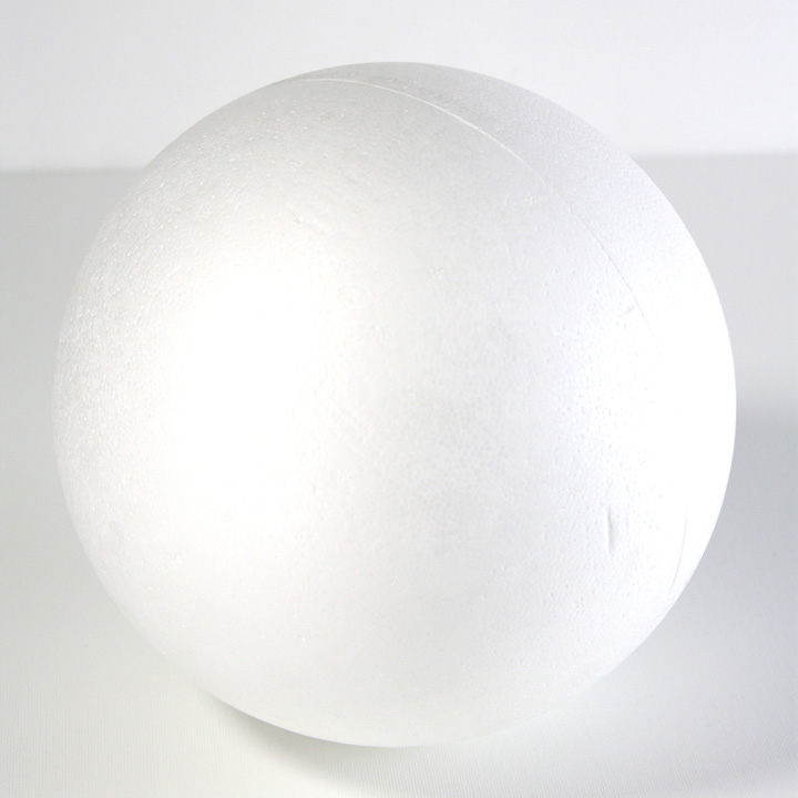 Polystyrenová koule - 20 cm kreativní potřeby