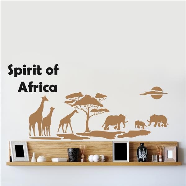 Šablona na zeď Home Design BRICO XXL - Spirit of Africa