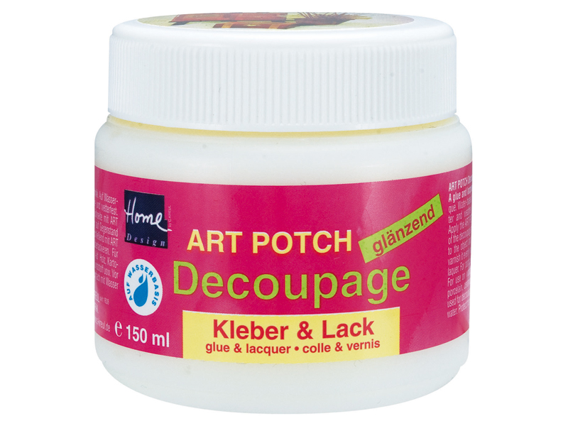 Lak a lepidlo na dekupáž 150 ml ART POTCH Decoupage - lesklé Home Design - C. Kreul