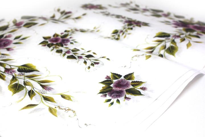 Rýžový papír Kali s potiskem - fialové květy papíry na dekupáž