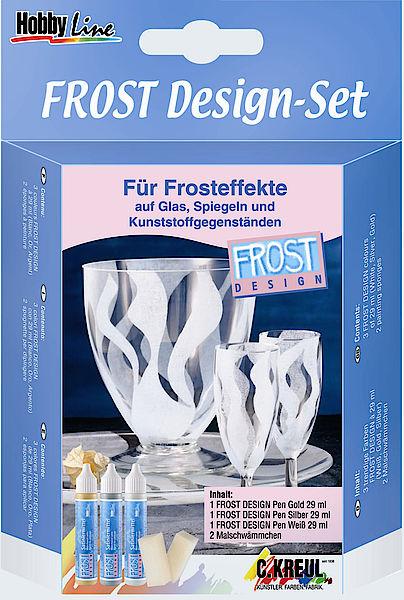 Sada farieb na sklo Hobby Line - Frost Design kreativní potřeby