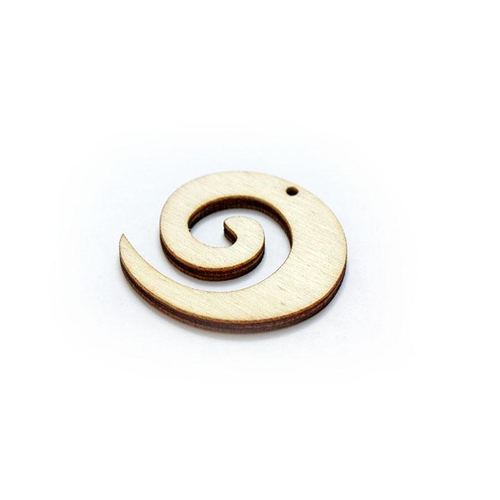 Dřevěný polotovar na výrobu bižuterie - spirála dřevěné polotovary na kreativní tvorbu