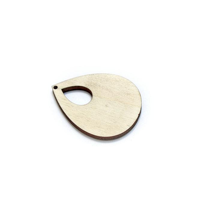 Dřevěný polotovar na výrobu bižuterie - slzička dřevěné polotovary na kreativní tvorbu