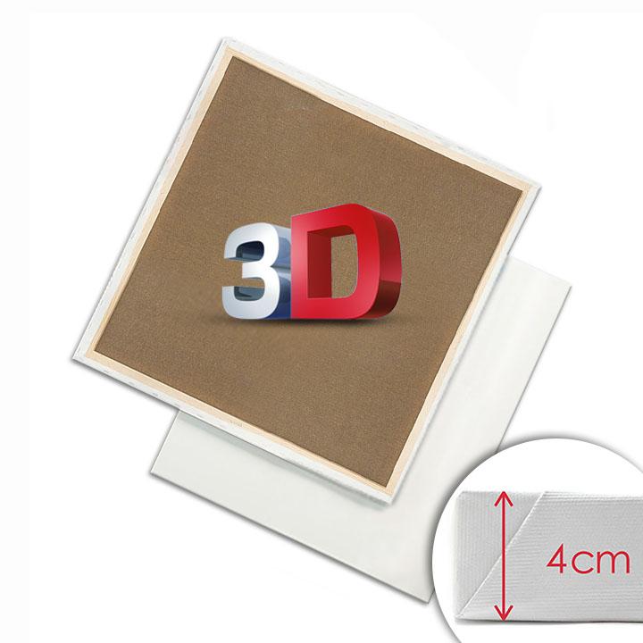 3D Malířské plátno na rámu 50 x 70 cm malířská plátna 3D
