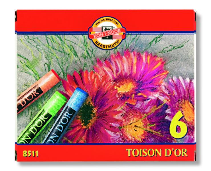 Sada suchých pastelů Toison D'OR Koh-i-noor 6 dílná suché pastely
