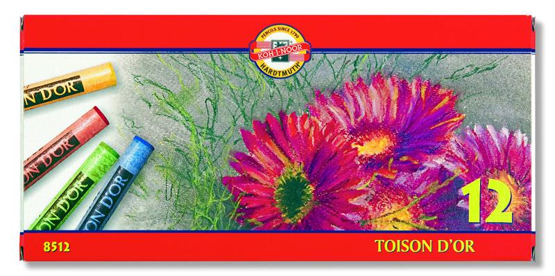 Sada suchých pastelů Toison D'OR Koh-i-noor 12 dílná suché pastely